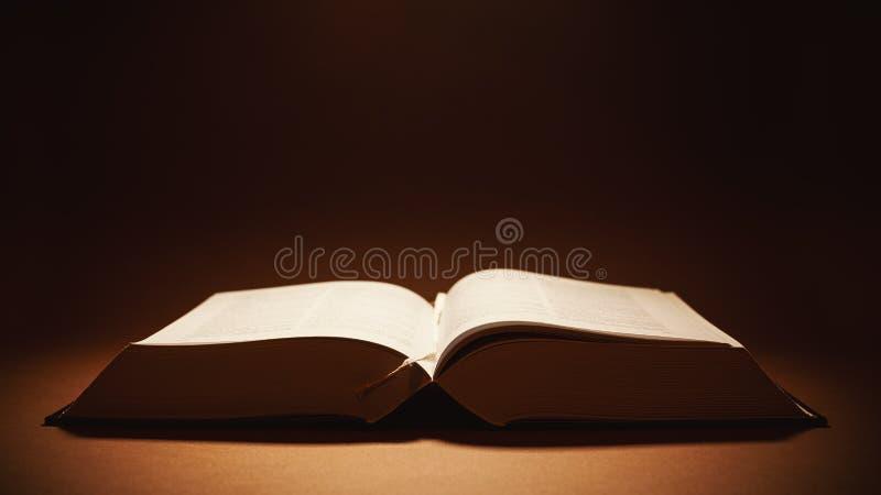 Öppna den tjocka boken royaltyfria bilder