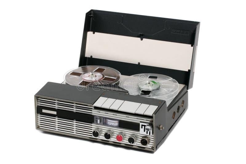 öppna det retro bandet för den bärbara registreringsapparatrullen fotografering för bildbyråer