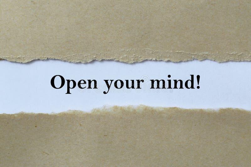 Öppna din mening! royaltyfria foton