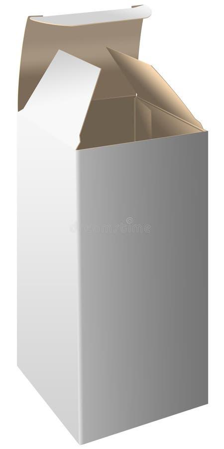 öppna emballage royaltyfri illustrationer