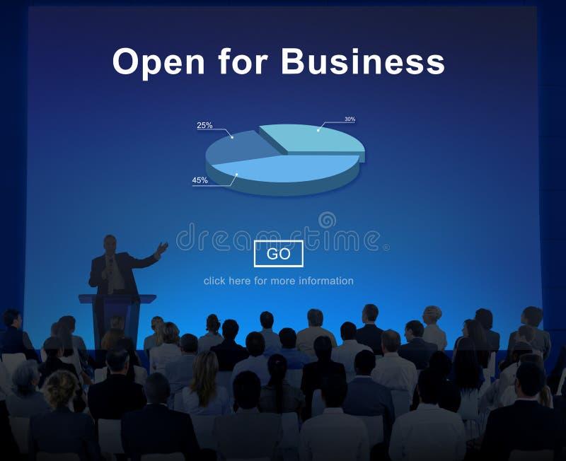 Öppna för begrepp för affärspartnerskapbransch royaltyfria bilder