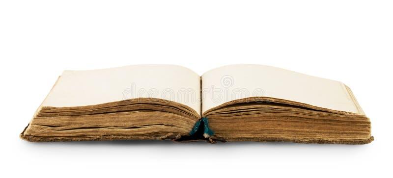 Öppna gammalt bokar arkivfoto