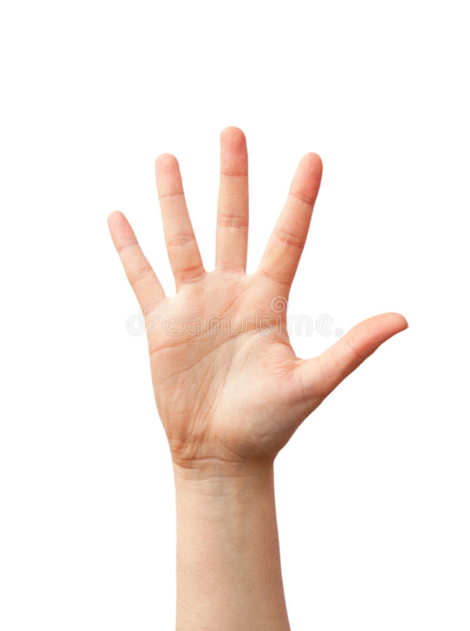 Öppna handen arkivbild