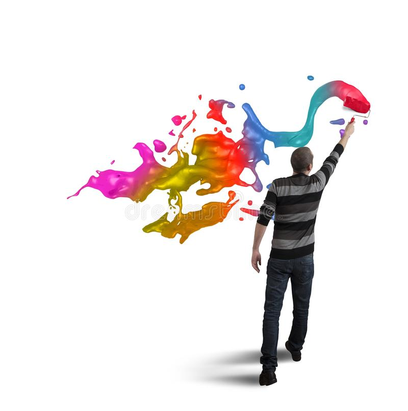 Öppna kreativitet i affären arkivfoton