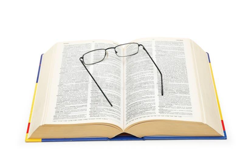öppna over anblickar för ordbok royaltyfri foto
