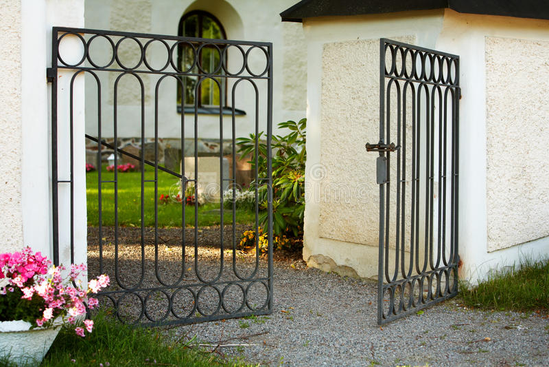 Öppna porten arkivbilder