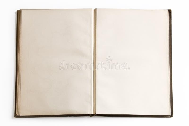 öppna sidor för blank bok arkivbild