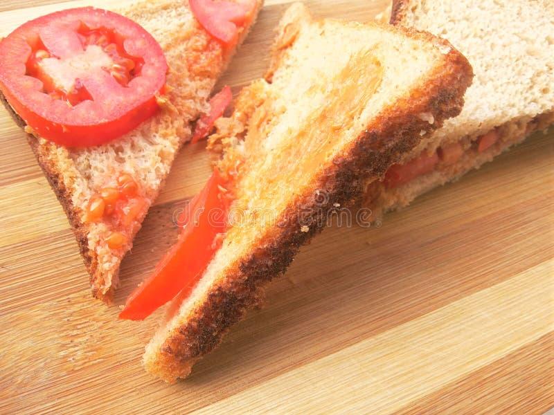 Öppna smörgåsen arkivbilder