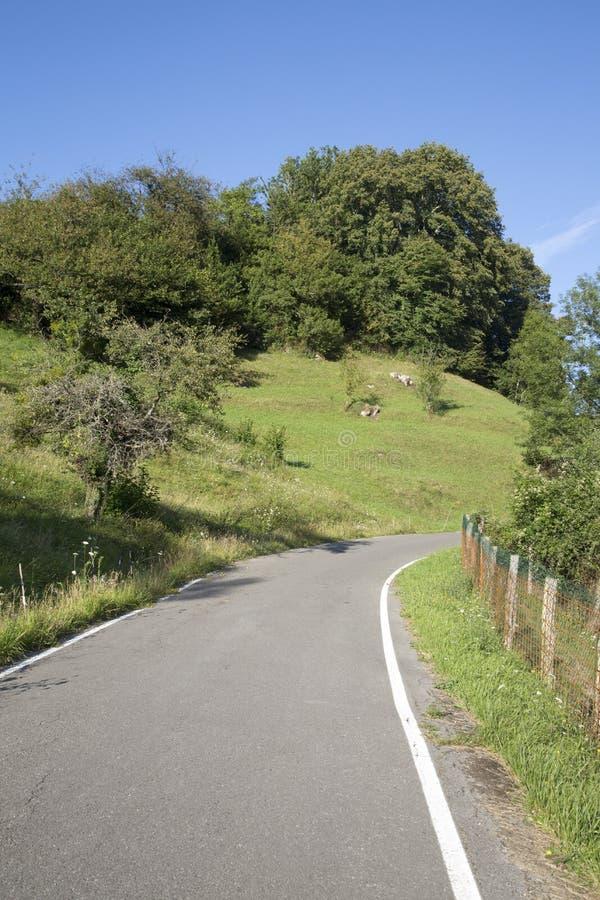 Öppna vägen, Picos de Europa Berg; Austurias arkivbilder