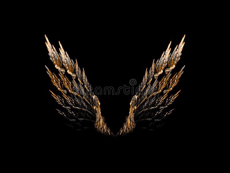 öppna vingar vektor illustrationer