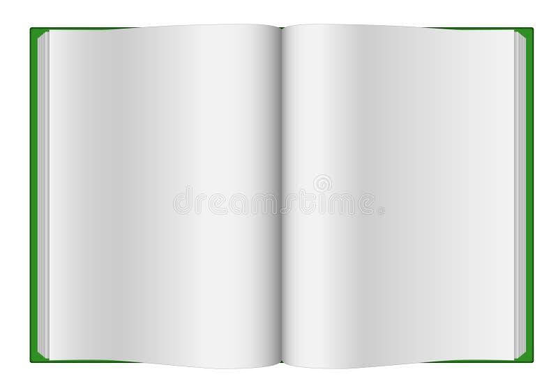 öppnad blank bok vektor illustrationer