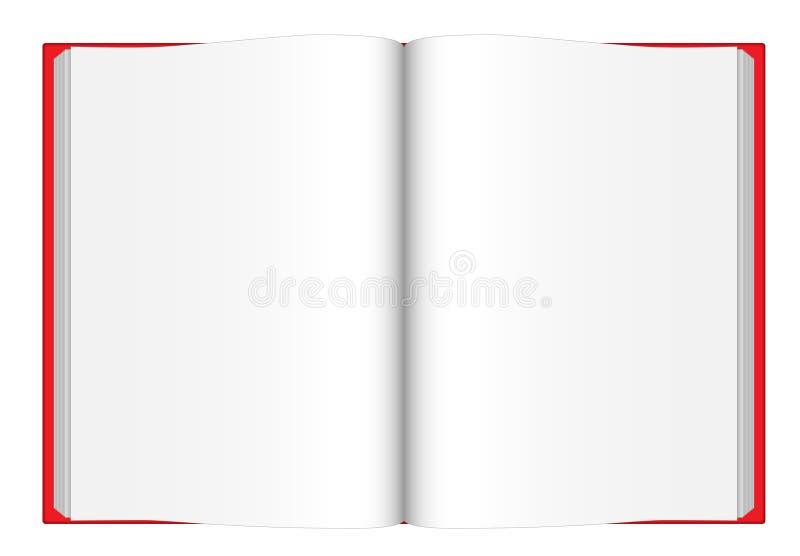 öppnad bok vektor illustrationer