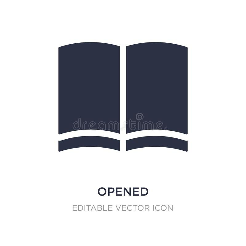 öppnad symbol på vit bakgrund Enkel beståndsdelillustration från utbildningsbegrepp royaltyfri illustrationer