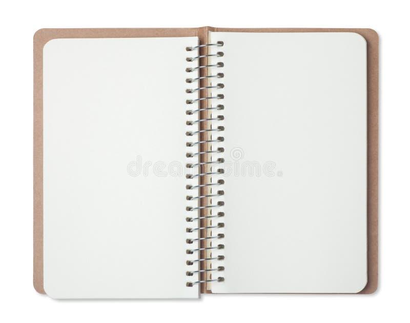 öppnad tom anteckningsbok royaltyfri foto