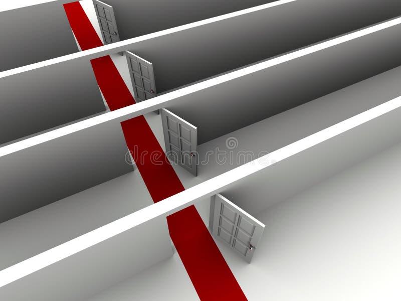 öppnade dörrar vektor illustrationer