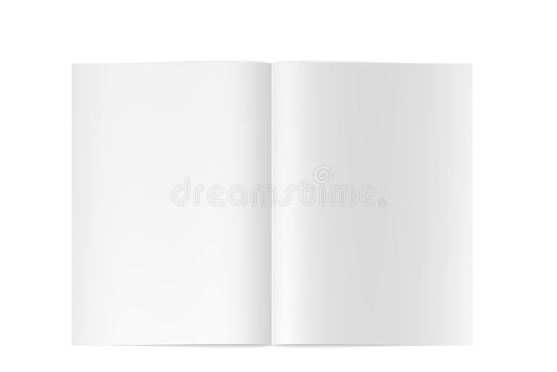 öppnade den höga tidskriften för den blanka boken 3d kvalitet stock illustrationer