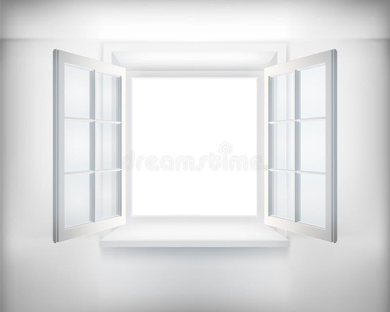 öppnat fönster vektor illustrationer