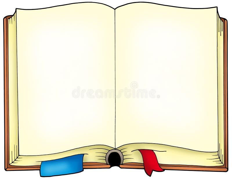 öppnat gammalt för bok royaltyfri illustrationer