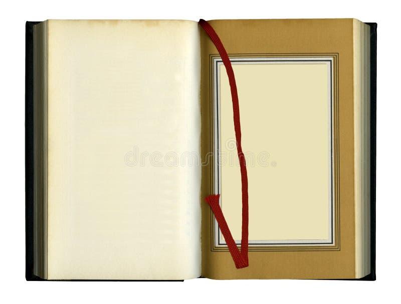 öppnat gammalt för bok royaltyfri foto