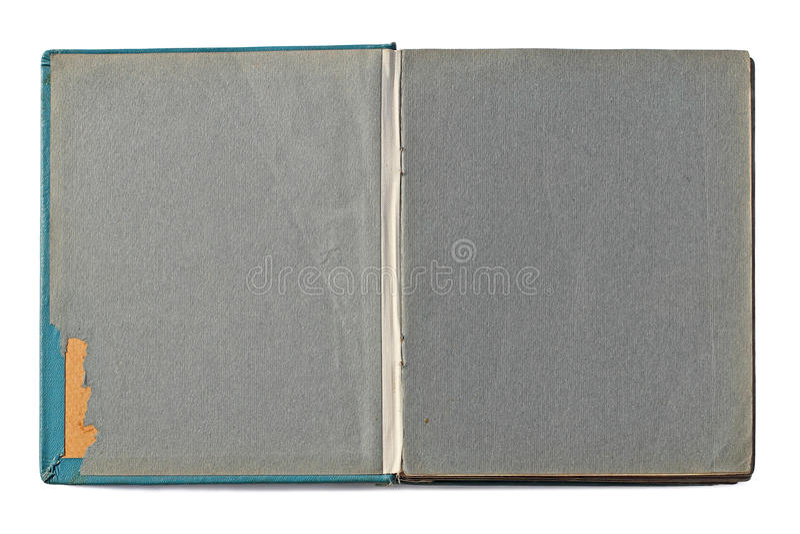 Öppnat gammalt tappningfotoalbum arkivfoton