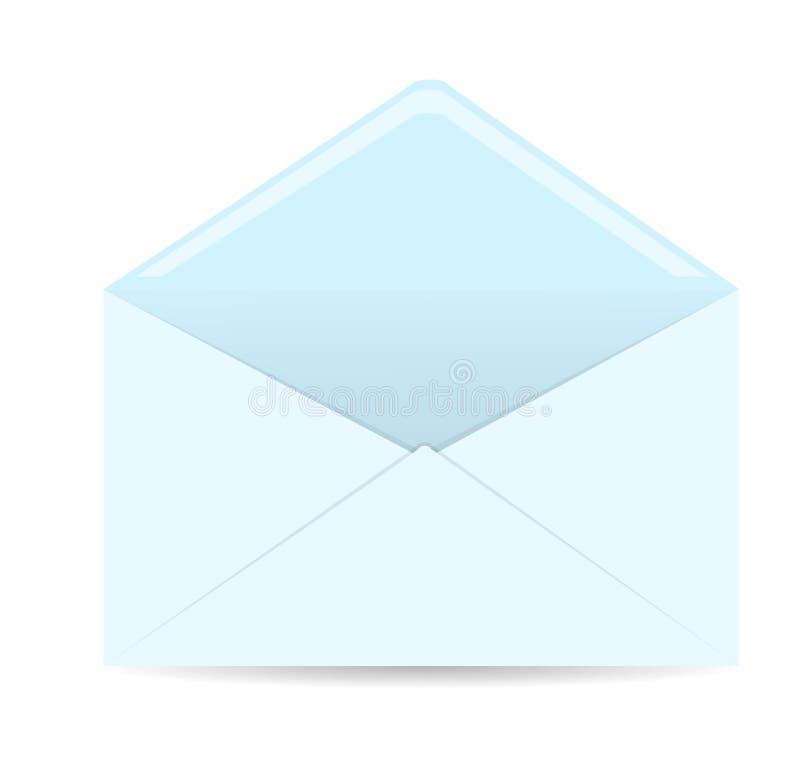 Öppnat kuvert på vitbakgrund vektor illustrationer