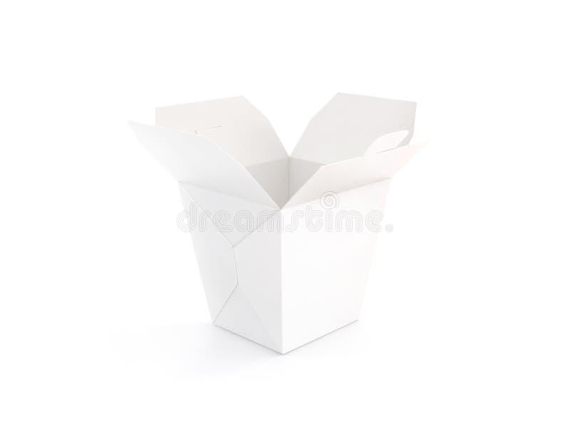 Öppnat tomt wokar den isolerade askmodellställningen arkivfoto