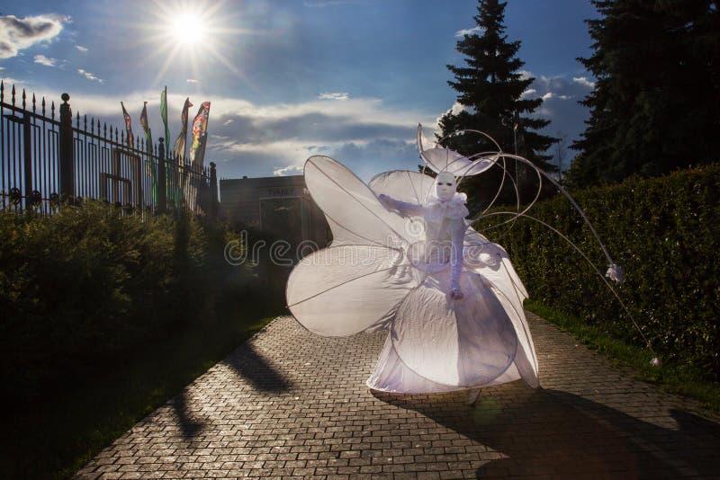Öppning av Moskvablomsterutställningen 2019 royaltyfri bild