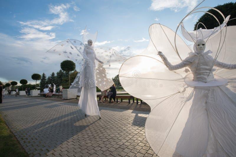 Öppning av Moskvablomsterutställningen 2019 arkivfoto