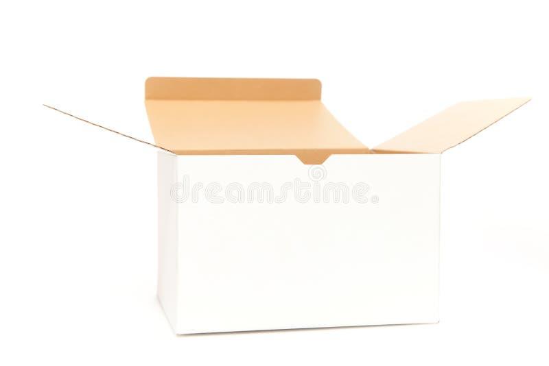Öppning för vit ask royaltyfri bild