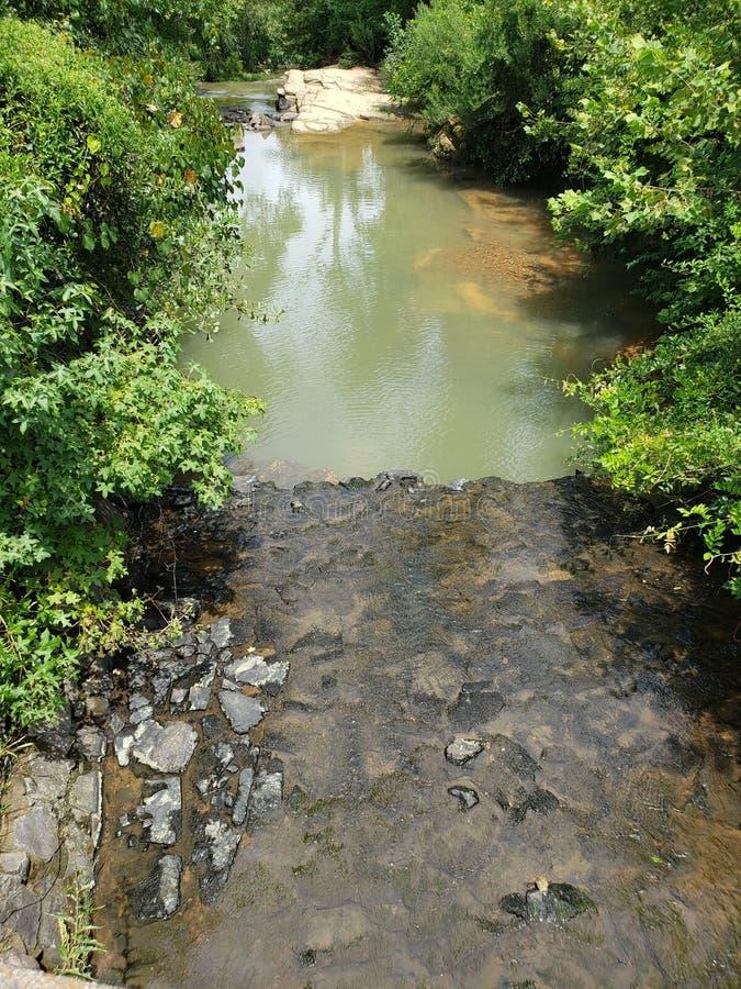 Öppning till vattenfallet från kanalen royaltyfri fotografi