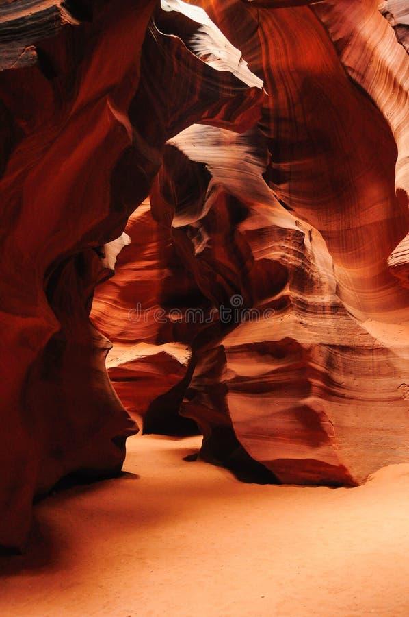Öppningskanjon i Arizona arkivbilder