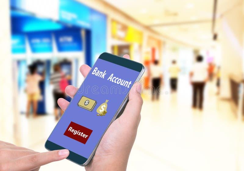 Öppningskonto/online-bankrörelsen arkivfoto