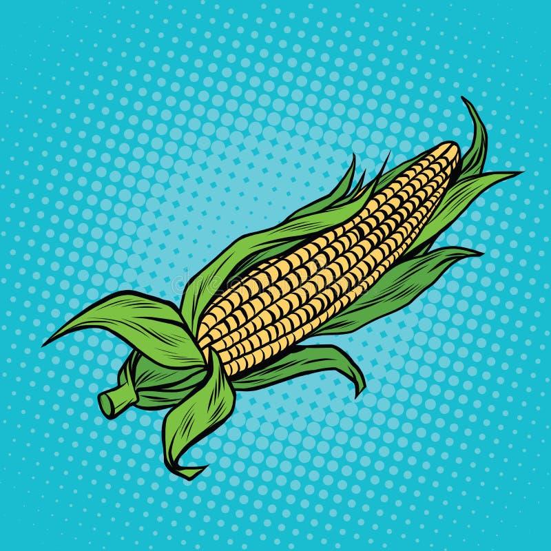 Öra av havre, skörd, jordbruk royaltyfri illustrationer