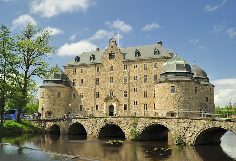 Örebro-Schloss lizenzfreie stockfotos