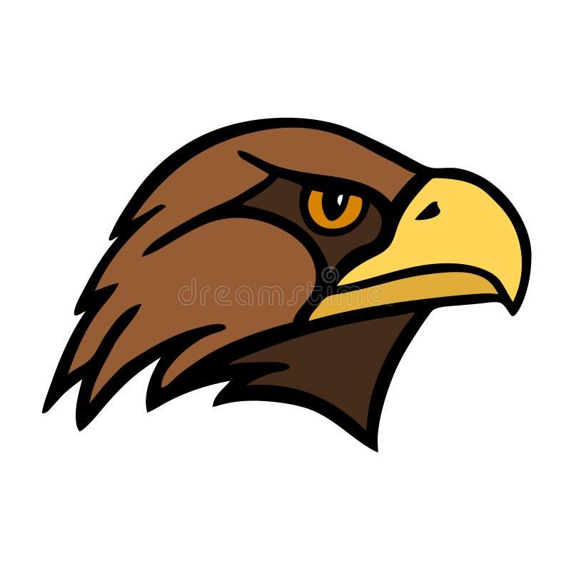 örn Huvudet av en fågel av rovet vektor illustrationer