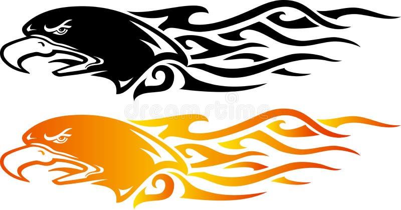 Örnflamma royaltyfri illustrationer