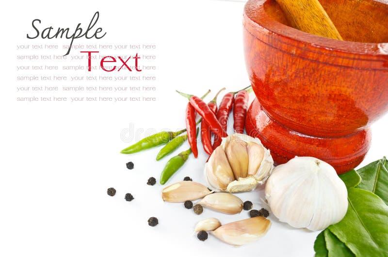 Ört och kryddig ingrediensmat arkivfoton