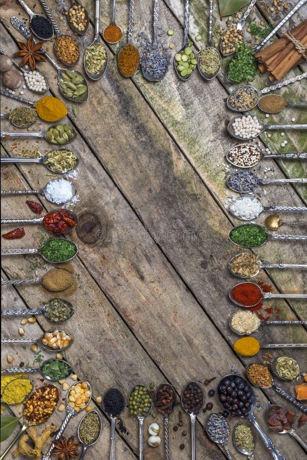 Örter och kryddor - med utrymme för text arkivbilder