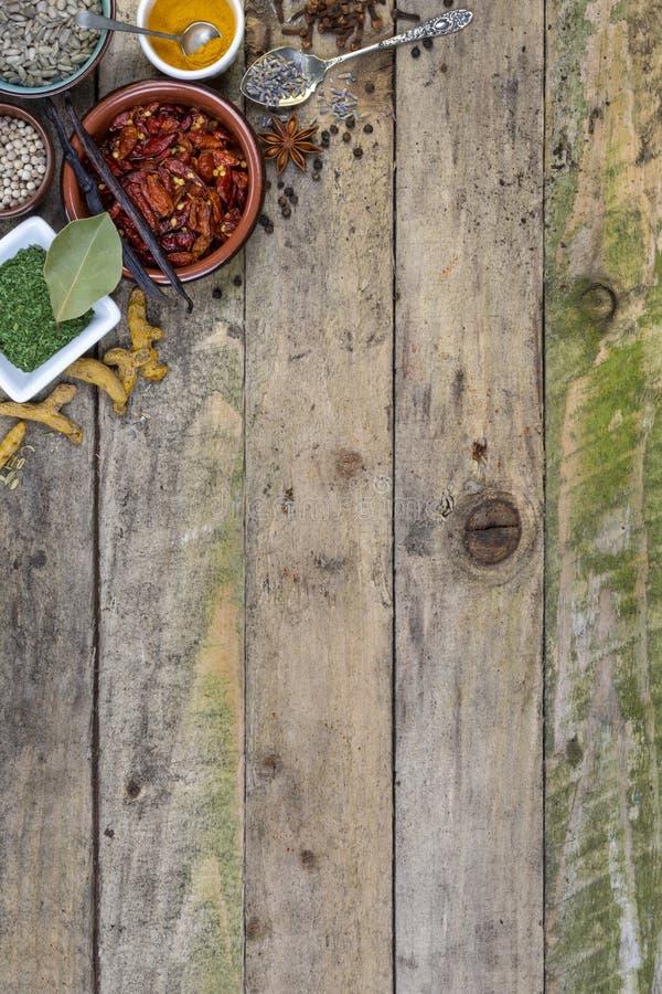 Örter och kryddor - utrymme för text arkivfoto