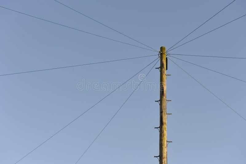 Örtlich festgelegte Zeile Telekommunikation stockbild