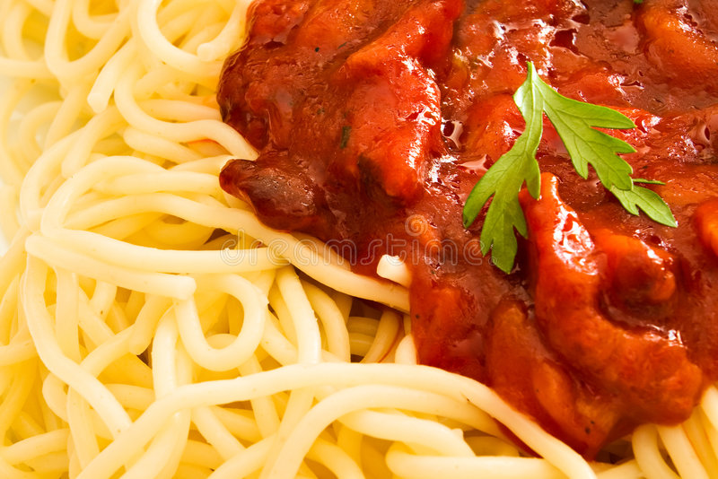 örtparsleyspagetti arkivbilder