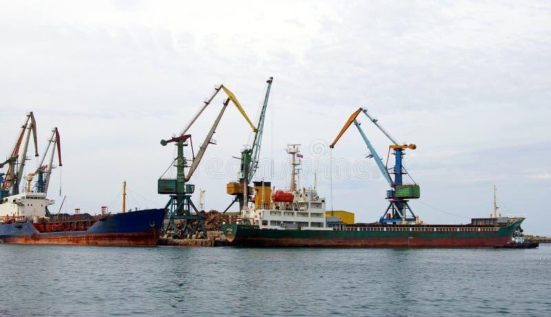 ösakhalin seaport royaltyfri fotografi