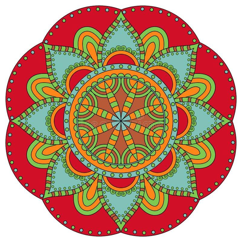 Österlänningen mönstrar Traditionell rund färgläggningprydnad mandala royaltyfria foton