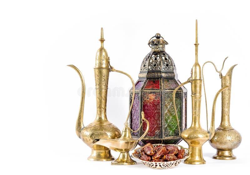 Österlänningen semestrar garneringRamadankareem Eid mubarak royaltyfria foton