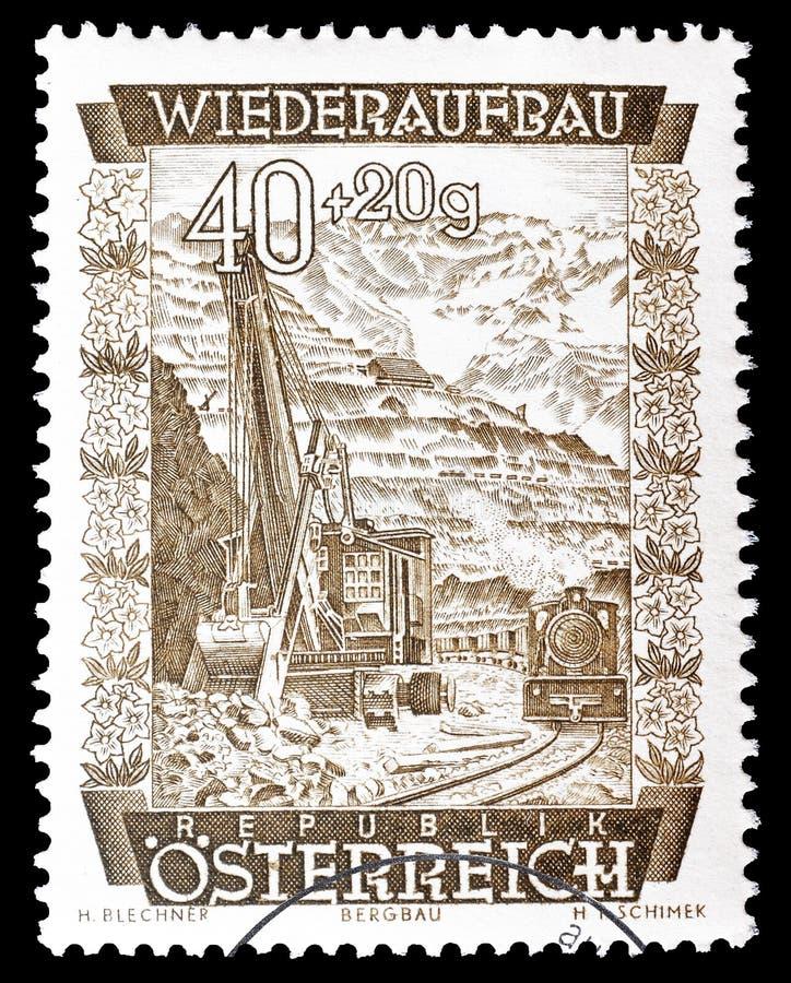 Österreich auf Briefmarke stockbilder