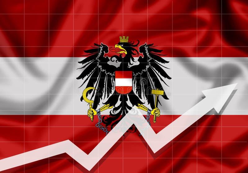 Österreich EU kennzeichnen mit hohem Pfeil stock abbildung
