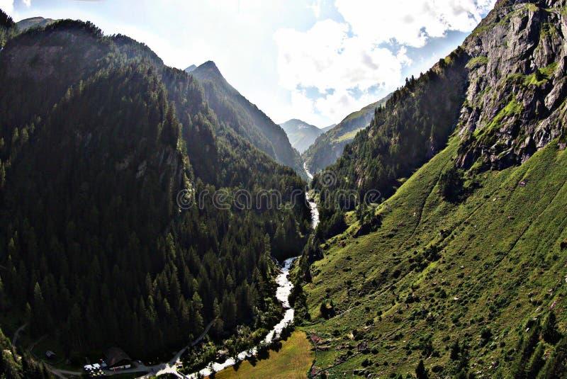 Österreich-Flussbrummen stockbild