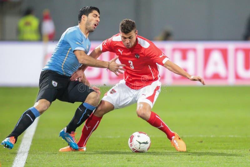 Österreich gegen Belgien uruguay lizenzfreie stockfotos