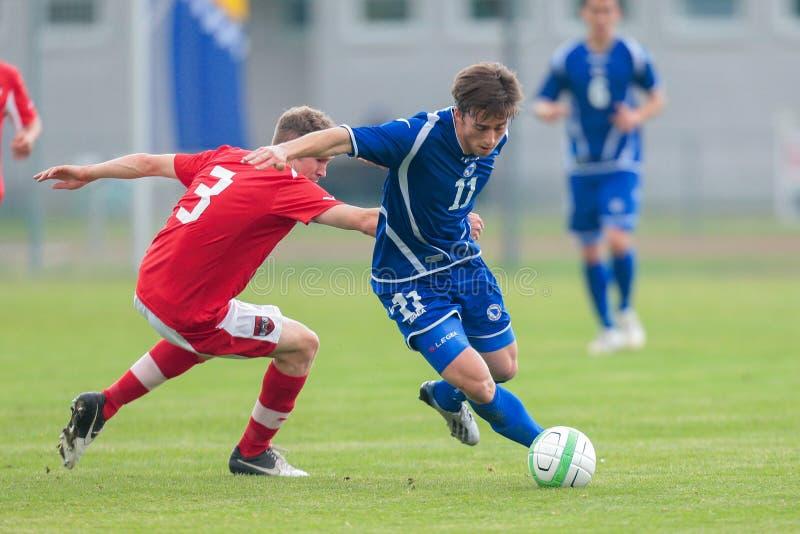 Österreich gegen Bosnien und Herzegowina (U19) stockfoto