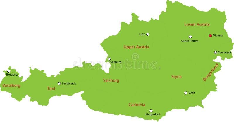 Österreich-Karte vektor abbildung